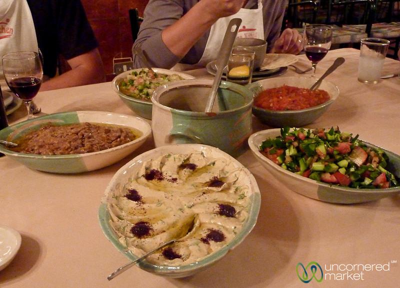 Dinner Spread at Petra Kitchen - Jordan