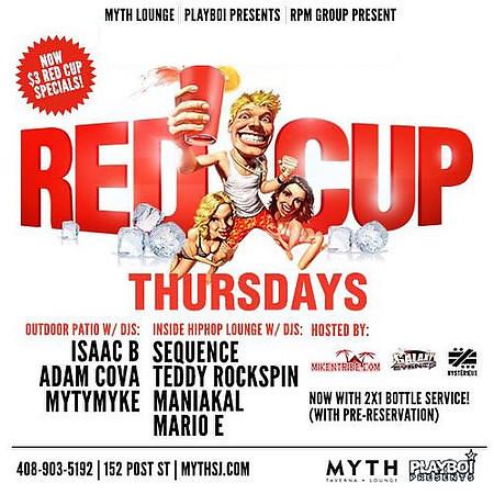 RED CUP THURSDAYS @ MYTH 11.19.15