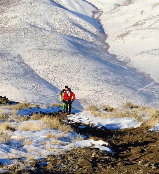 Tony and Ryan finish their climb to the summit.