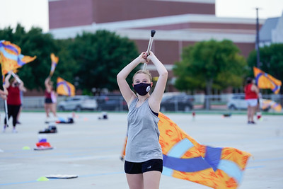 Color Guard Rehearsal, Aug 31, 2020