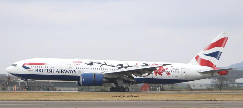 G-YMML B777 British Airways @ Glasgow Airport (EGPF)