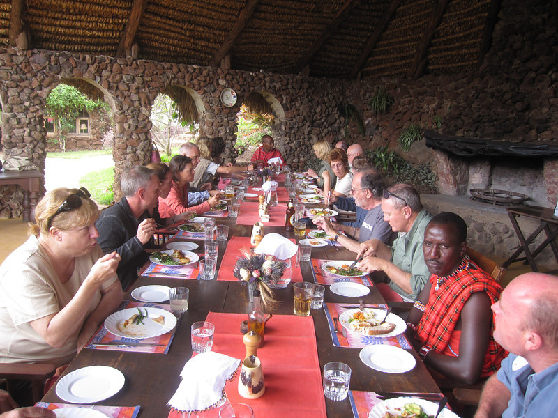 Lunch at Lewa Wilderness Trails - the meals were awesome, varied, and so much fun to eat on the open verandah and also to share stories around the big table.