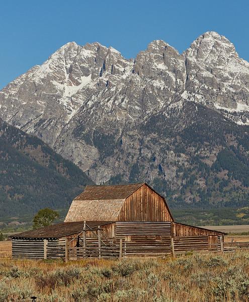 Mormon sheds near Jackson  Hole