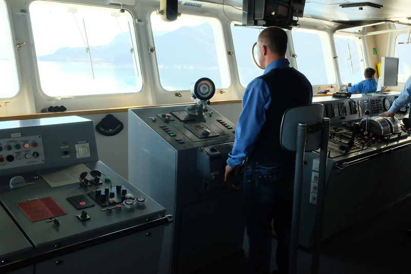 The helmsman at the helm.