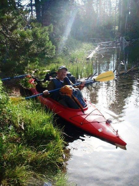 This is why we choose to kayak from String Lake, across Leigh Lake and then pick our way to the camp site.