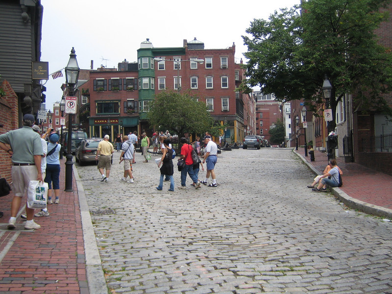 The street with Paul Revere's house