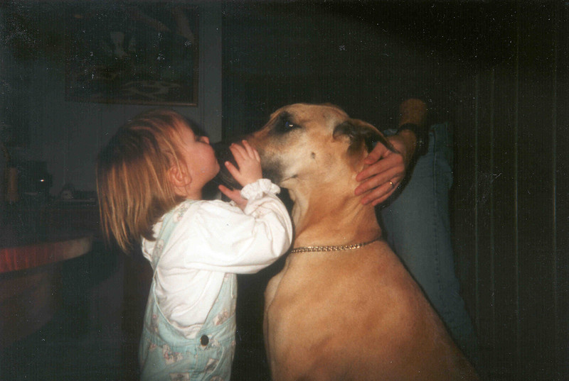 Tahirih kissing Lucy.jpg
