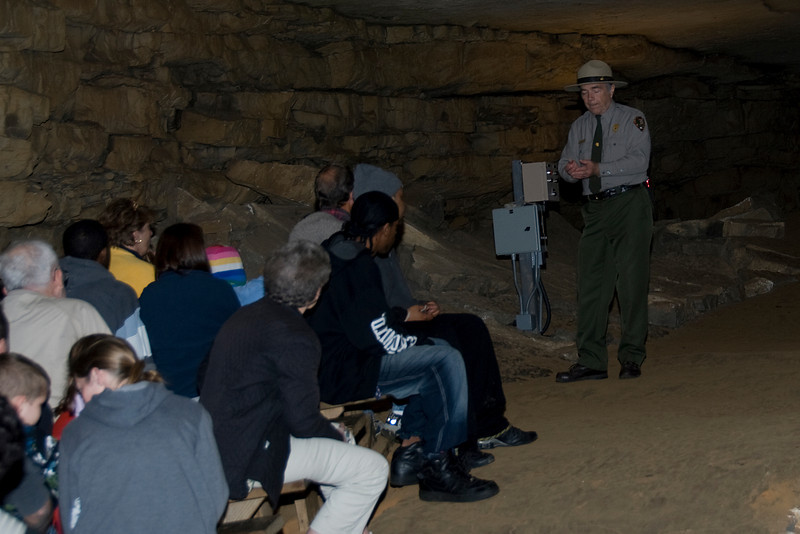 Tour inside Mammoth Cave National Park in Kentucky