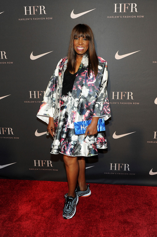 . Essence magazine editor-at-large Mikki Taylor attends a fashion show and awards ceremony held by the Harlem Fashion Row collective and Nike before the start of New York Fashion Week, Tuesday, Sept. 4, 2018. (AP Photo/Diane Bondareff)