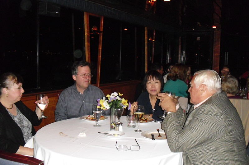 David & Sandy Landsman and Bob & Julie Driegert at the closing dinner aboard Majestic Princess II.