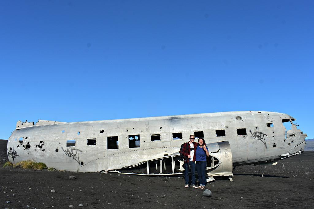 DC-3 Plane on Iceland's South Coast