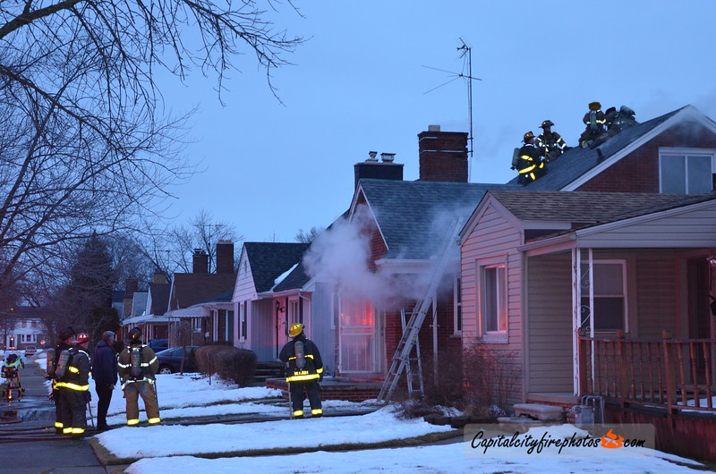 2/16/18 - 19130 Chester St - 0708 hours – Engines 32, 41, 52, Ladder 31, Squad 6, Chief 9. Engine 52 stretched on a 1.5 story, vacant, dwelling. 2 lines stretched.