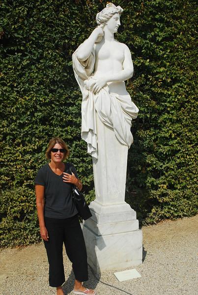 Versailles.  Two Roman goddesses.