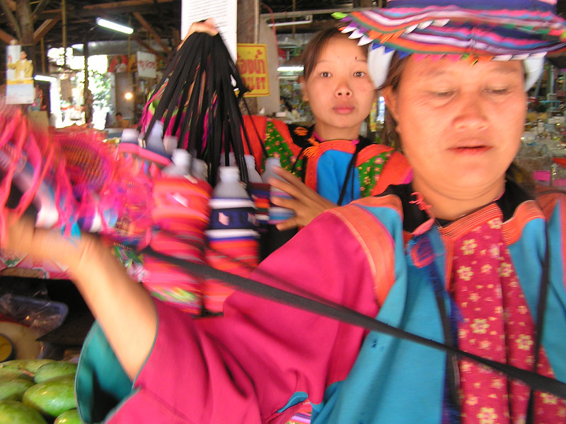 Thai hill tribe ladies trying really hard to sell me stuff I don't want