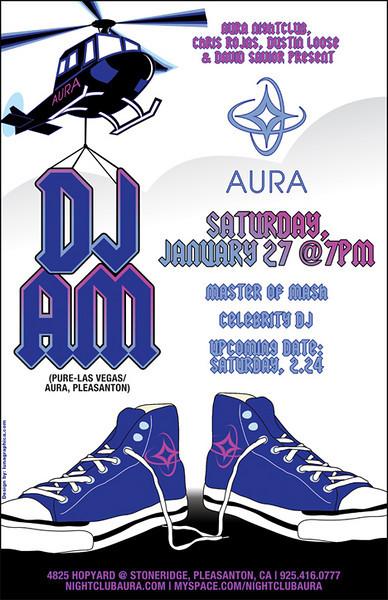 LICK VIP, Tom  From MySpace & DJ AM @ Aura 1.27.07
