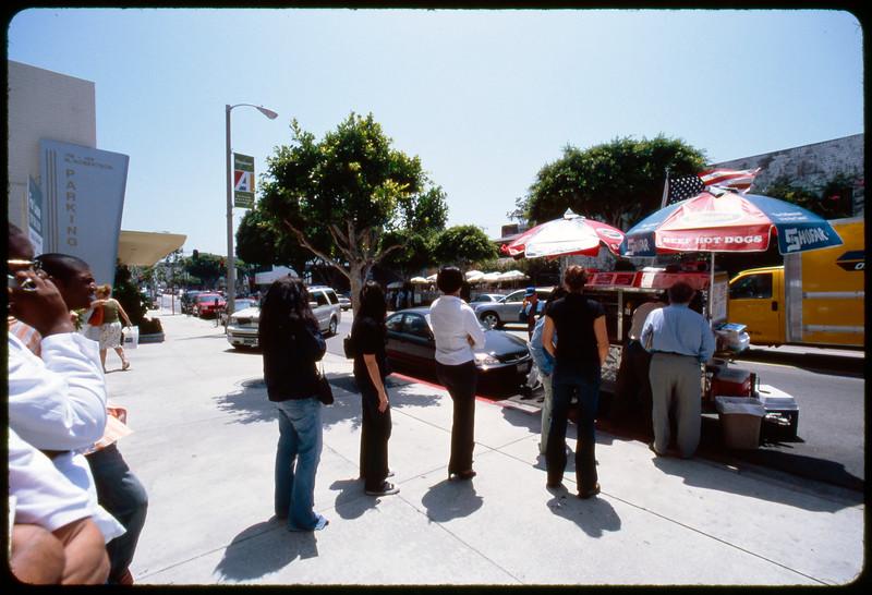 Food vendors on Santa Fe Avenue, south the the freeway, Los Angeles, 2005