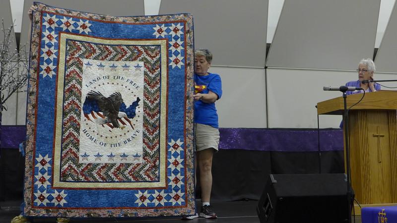 Patriotic quilt by De Chamberlain