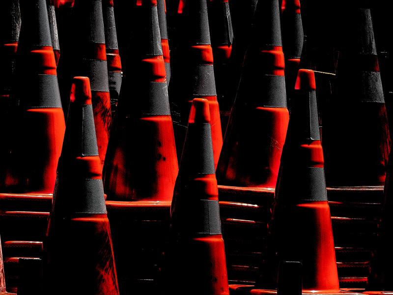 Traffic Cones, Campbell, California, 2010