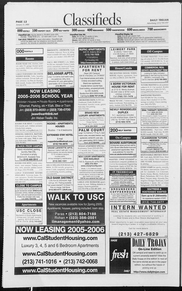 Daily Trojan, Vol. 154, No. 13, January 31, 2005