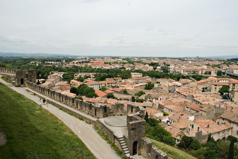 Carcassonne Cité and Modern City Carcassonne, France — June 2009