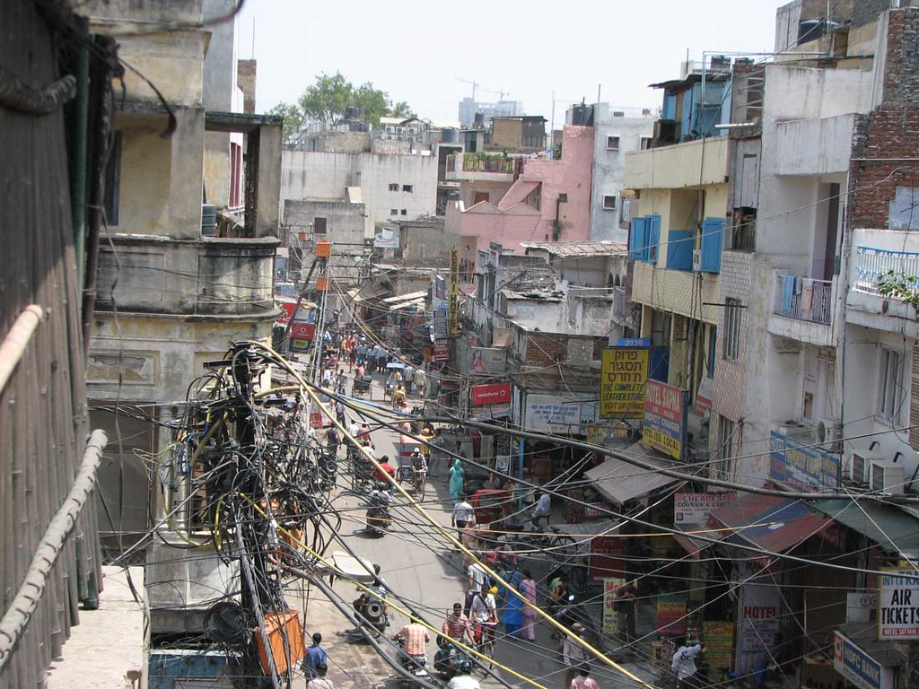 Delhi streets and electricity