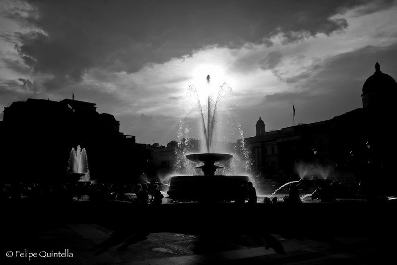 Shot at the Trafalgar Square, London