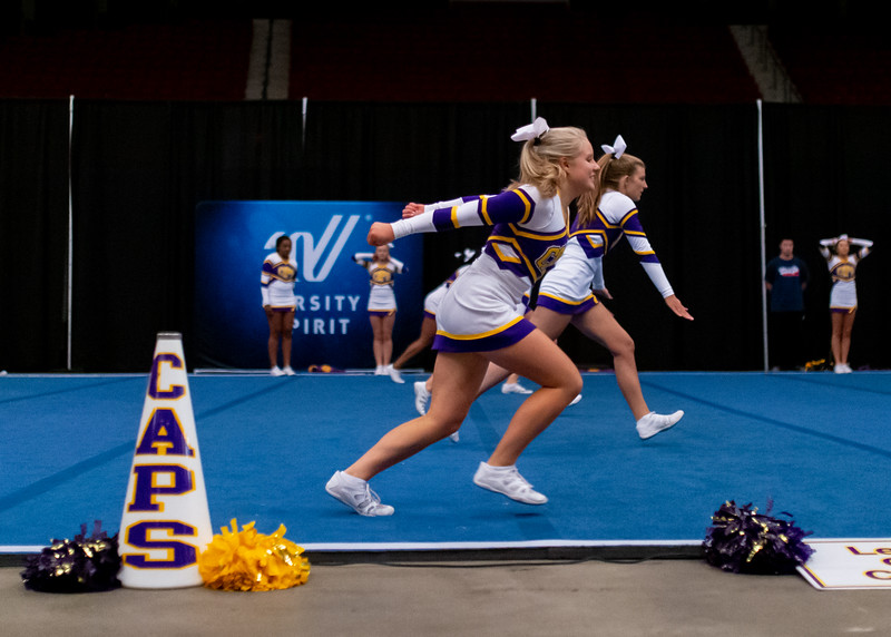 Broughton cheerleading Pre-States. November 16, 2019. D4S_1702