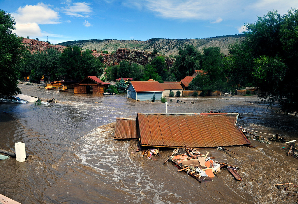 . Flood damage at Planet Bluegrass in Lyons Friday, Sept. 13, 2013. (Greg Lindstrom/Times-Call)