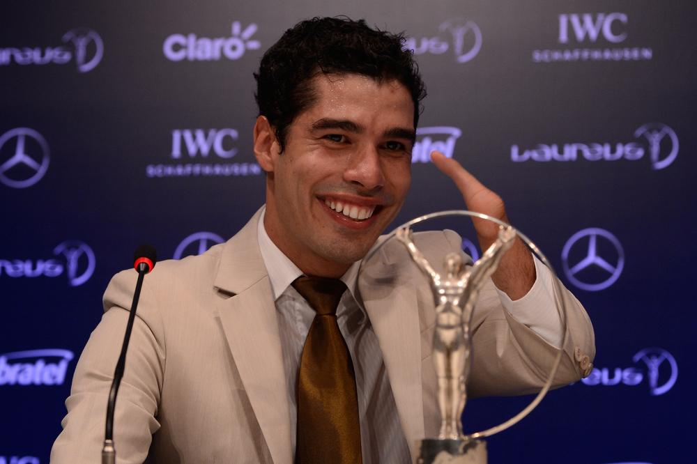 . Daniel Dias attends the Winners Press Conferences & Photocall at the Theatro Municipal Do Rio de Janeiro during the 2013 Laureus World Sports Awards on March 11, 2013 in Rio de Janeiro, Brazil.  (Photo by Buda Mendes/Getty Images For Laureus)
