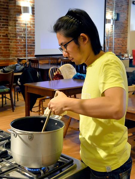 01.29.15 INTO students at Huntington's Kitchen