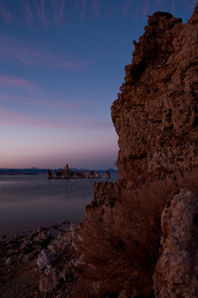 Mono Lake and the tufa towers at sunset