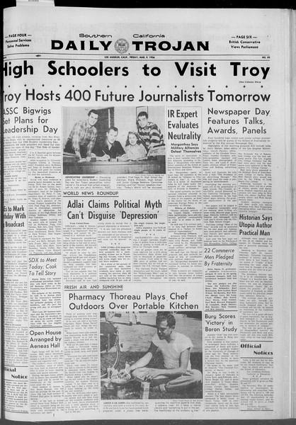 Daily Trojan, Vol. 47, No. 92, March 09, 1956