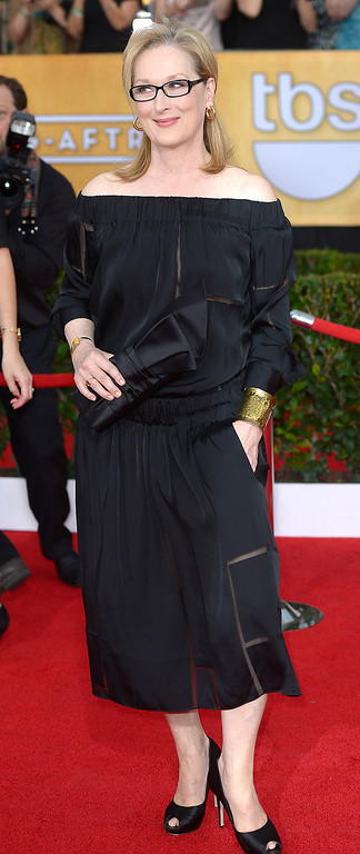 . Meryl Streep arrives at the 20th Annual Screen Actors Guild Awards  at the Shrine Auditorium in Los Angeles, California on Saturday January 18, 2014 (Photo by Michael Owen Baker / Los Angeles Daily News)