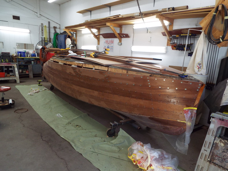 Starboard front view with the new planks installed.