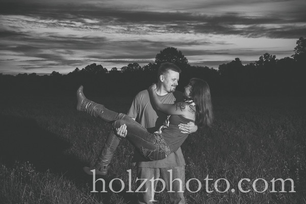 Jessica & Justin B/W Engagement Photos
