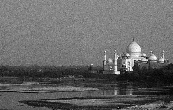 the Taj Mahal from the Red Fort