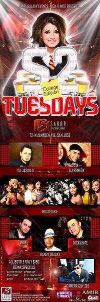 $2 Tuesday @ Sabor Tapas Bar & Lounge 11.3.09
