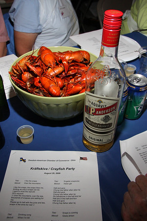 August 2009--SWEDES KNOW HOW TO HAVE A GREAT CRAYFISH PARTY !