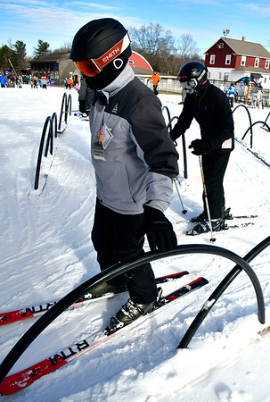 1/12/2019 Mike Orazzi | Staff Jake Friess and Jack McGovern while at Mount Southington Ski Area on Mt Vernon Road in Plantsville Saturday.