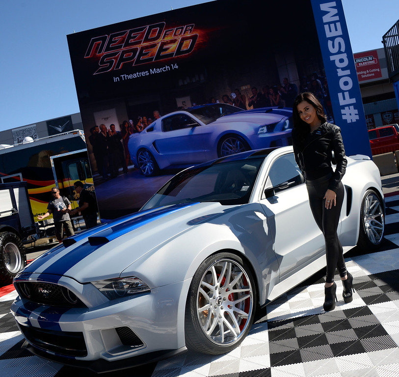 . Nov 5,2013 Las Vegas NV. USA. One of the may cars to get feature in the new 2014 move Need for Speed on display during the first day of the 2013 SEMA auto show.