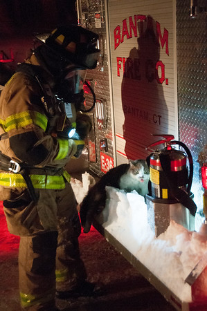 Structure Fire - 266 Stoddard Rd, Morris, CT - 2/23/15