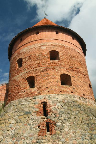 Defensive tower of Trakai Castle -Lithuania