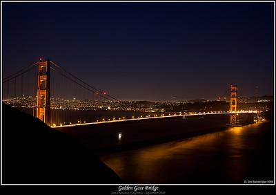 Golden Gate and Moon Rise (September 2010)