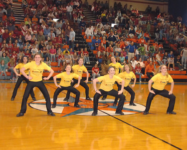 Marshall County Dance Team Performance At The Fourth District Basketball Finals February 28, 2008.