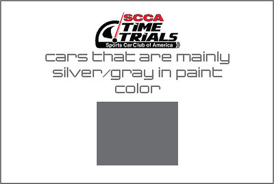 The Silver Cars of the SCCA Time Trials Event