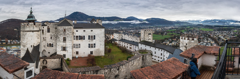 View from one of the large towers