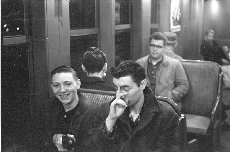 Early winter 1960.  Charley Burnet, classmate, on the left, Denis, my brother, on the right.