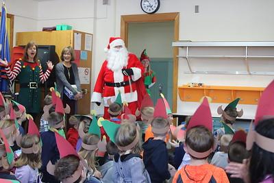 Santa visits Watkins Elem