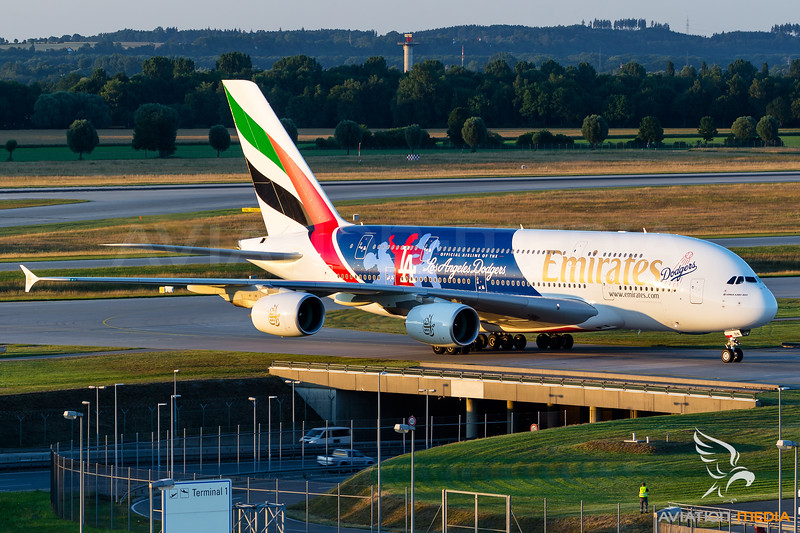 Emirates / Airbus A380 / A6-EON / Los Angeles Dodgers