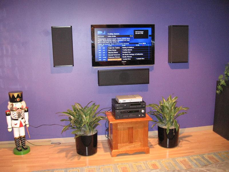 Vandersteen wall mount speakers in the entry lobby.
